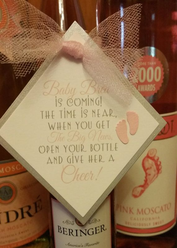 Mini Wine Bottle Favor Tags Baby Shower Favor Tags Give Her A