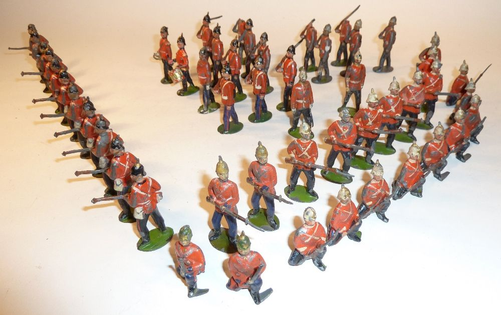 Lot 30 Britains early Infantry of the Line on guard and