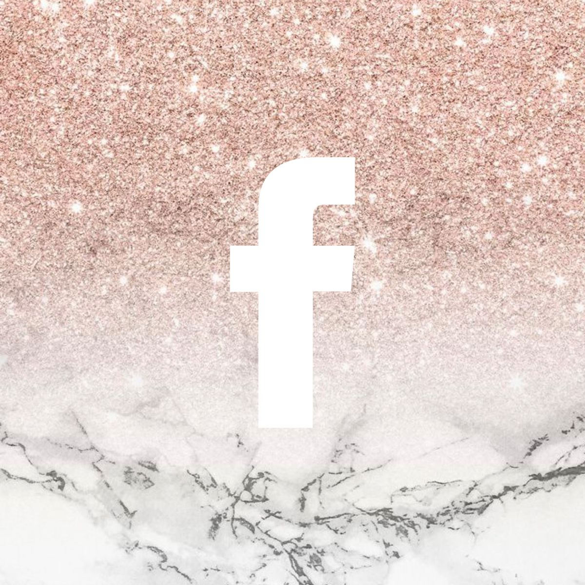 Rose Gold Glitter Facebook Icon Rose Gold Glitter Facebook Icons Phone Icon