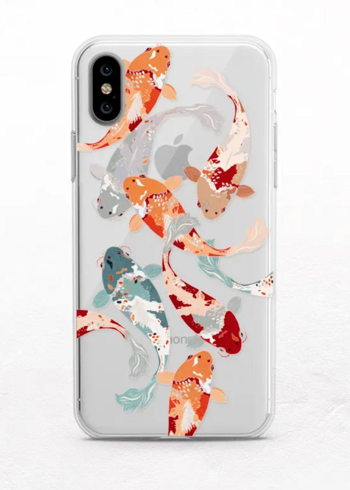 # Handyhüllen gemalt Koi Fish Handyhülle – Handyhüllen – #hülle #Fisch #gemalt …   – Draw on