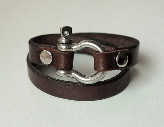Leather Bracelet With Sterling