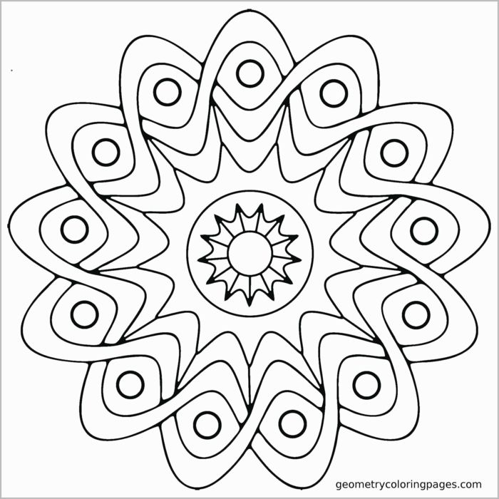 Einfache Mandala Muster für Kinder Bilder zum ausmalen