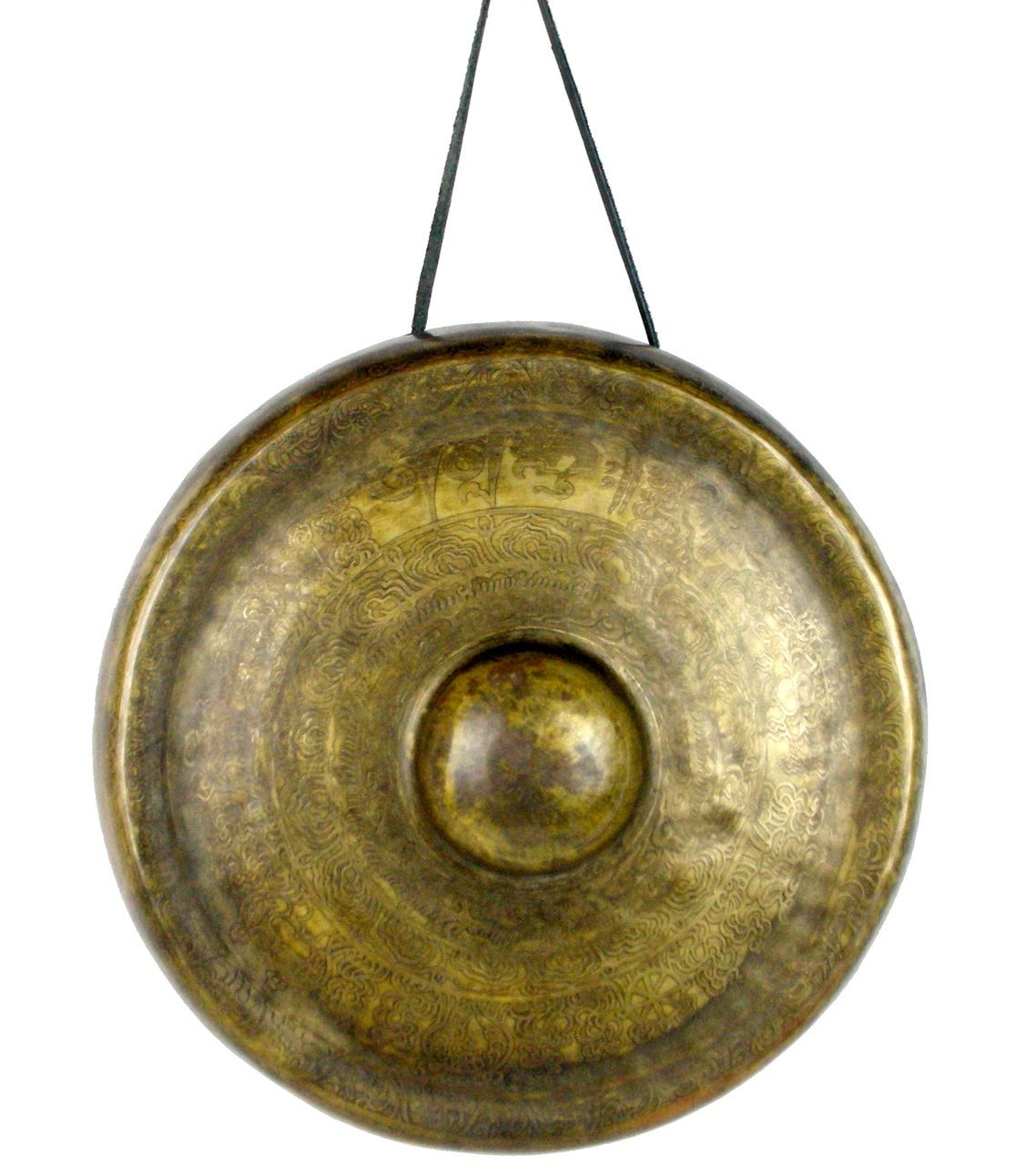 ANTIQUE-FINISH FIVE-METAL GONG