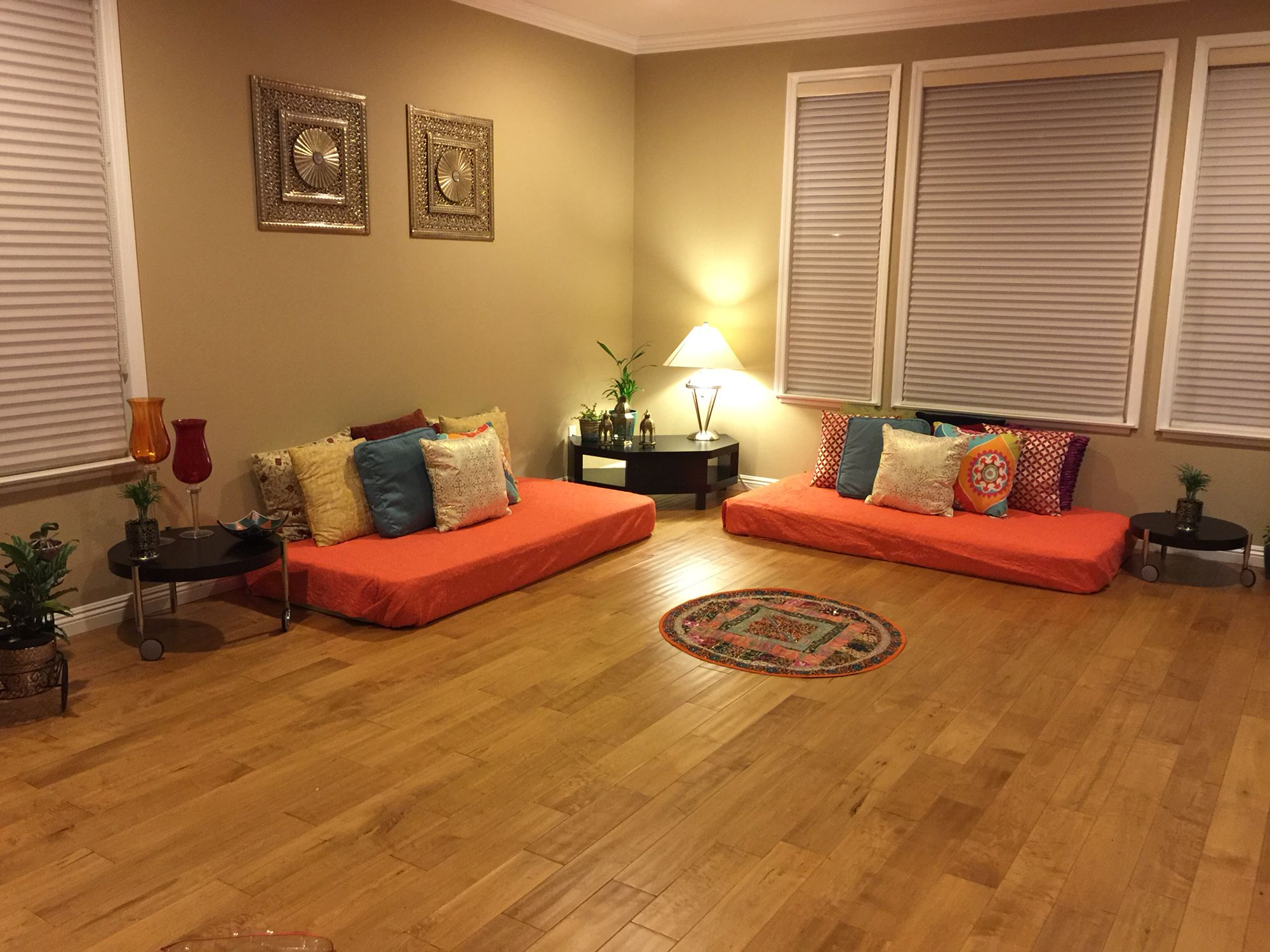 Indian inspired living room … Floor seating living room