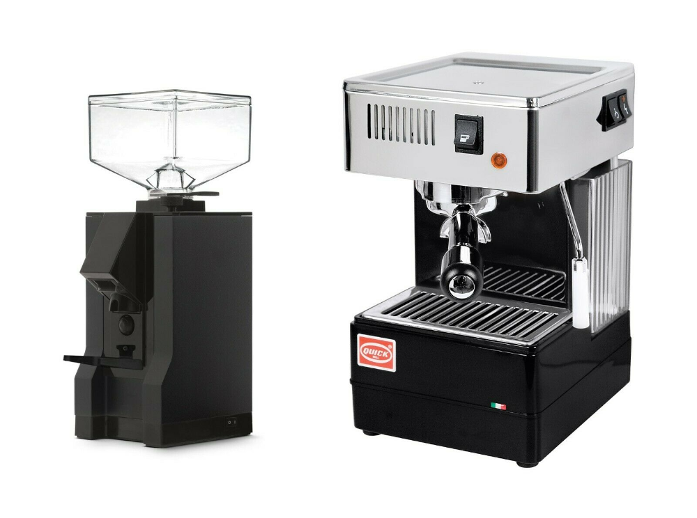 QuickMill 820 Espresso Machine Thermoblock Black & Eureka