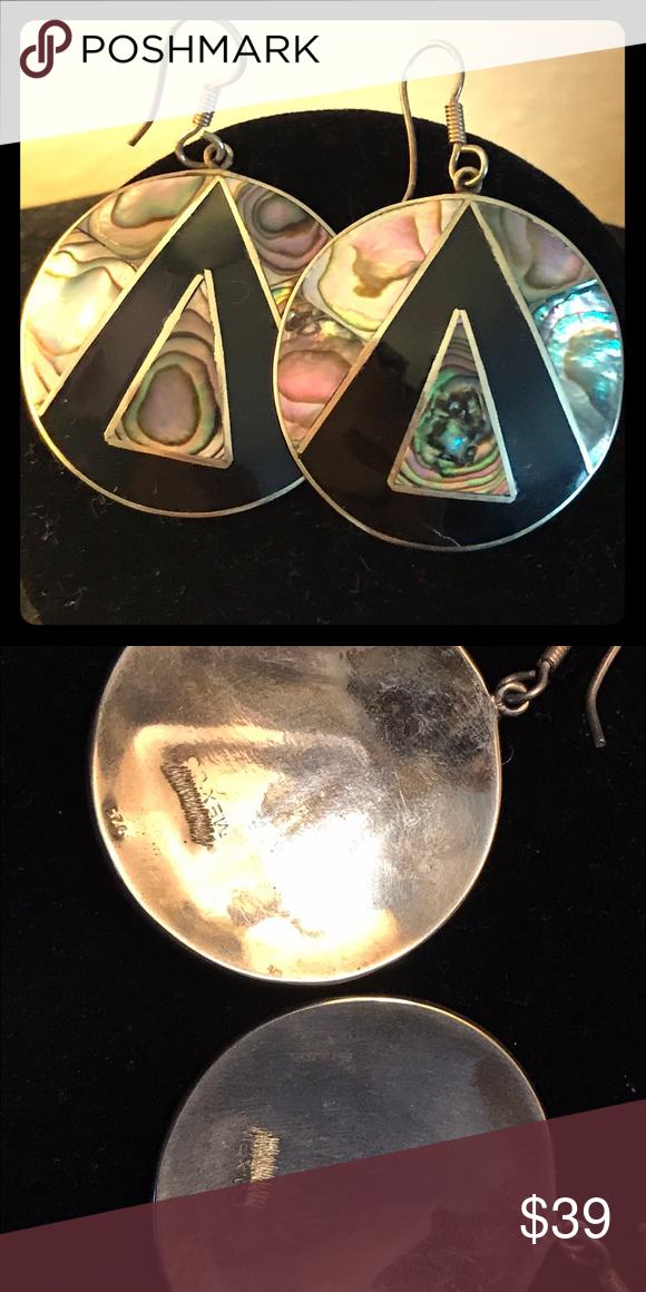 Art Deco Earrings Vintage, multi stone, sterling silver. Jewelry Earrings
