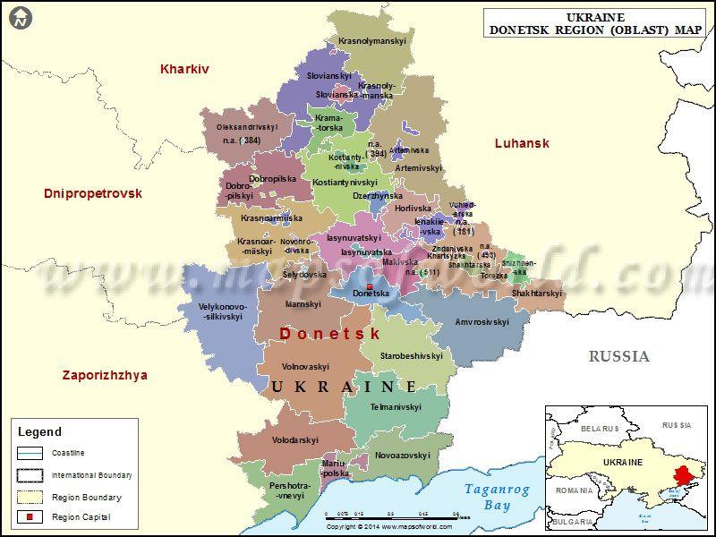 Donetsk Map World Political tensions Pinterest Ukraine