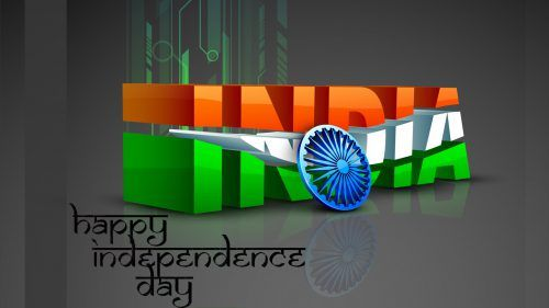 3d India Text For Independence Day Wallpaper In Hd Wallpaper