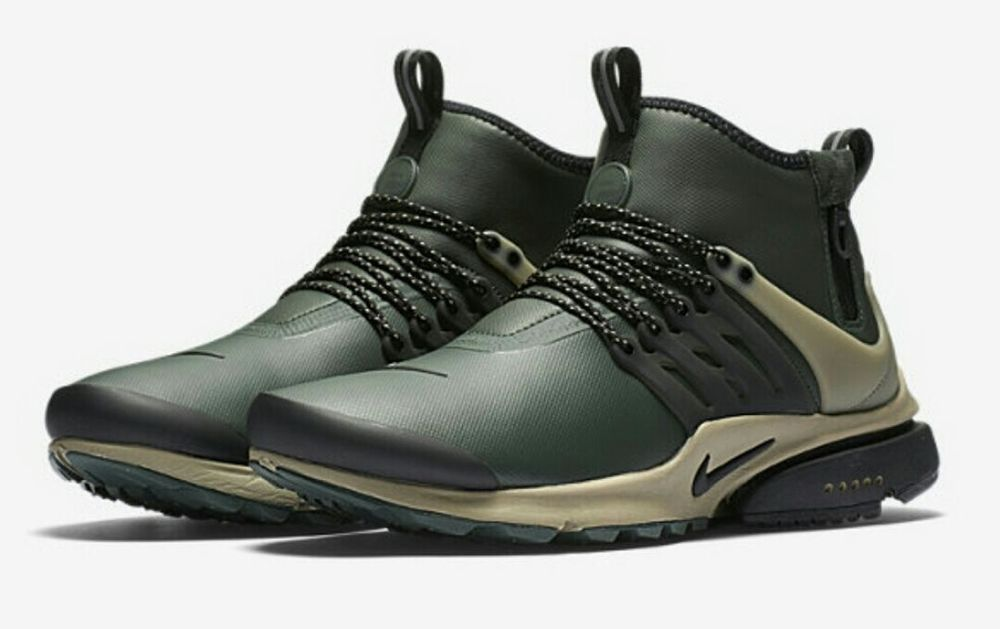 NIKE AIR PRESTO MID UTILITY 859524 300 Grove Green Black