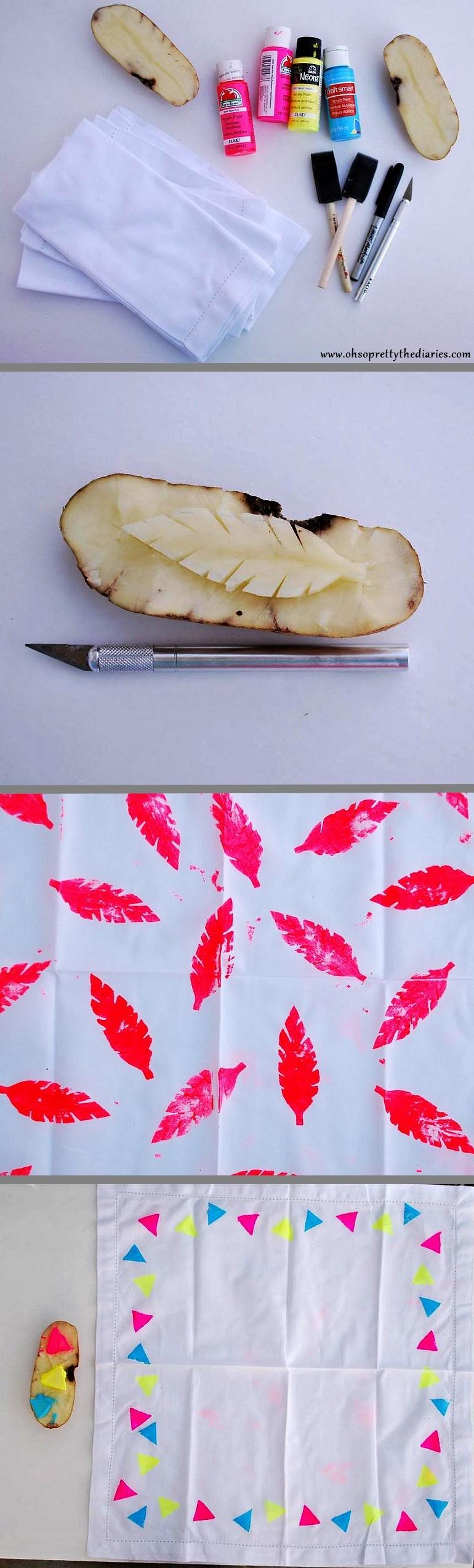 Potato stamps | DIY❤ | Potato stamp, Potato Print, DIY