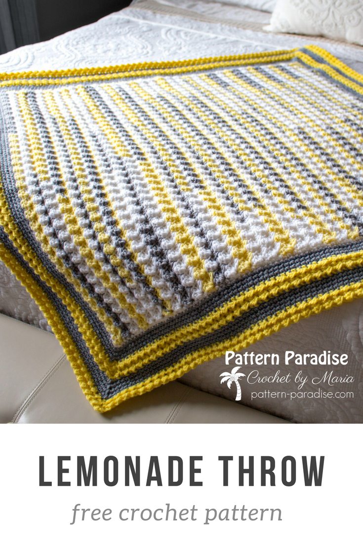 Free Crochet Pattern: Lemonade Throw