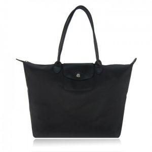 Sac à épaule Longchamp Le Pliage Néo Sac shopping L Noir   wish list ... 866dfbafc6