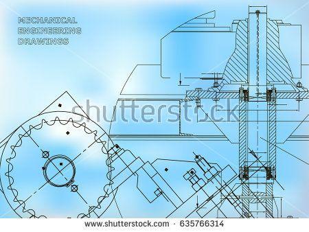 Blueprints mechanical drawings engineering illustrations blueprints mechanical drawings engineering illustrations technical design banner blue bubushonok malvernweather Choice Image