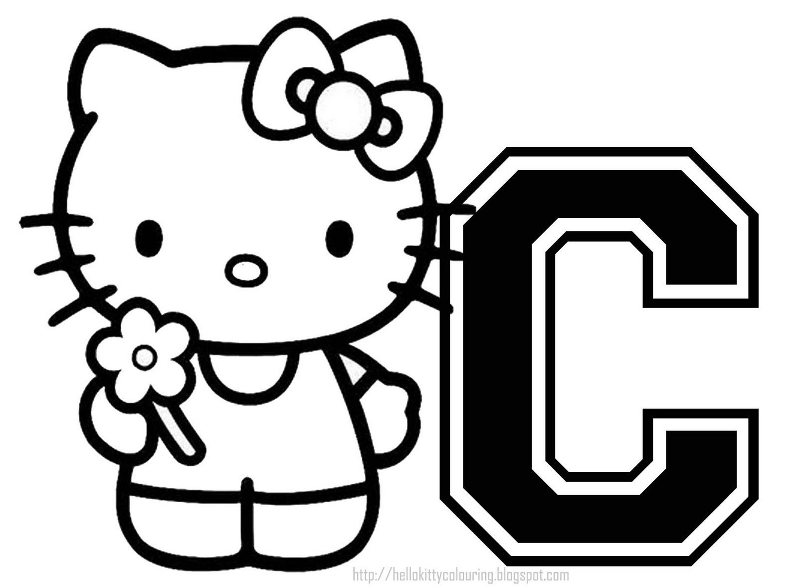 personalised+hello+kitty+coloring+page+letter+%283%29.jpg 1,600 ...