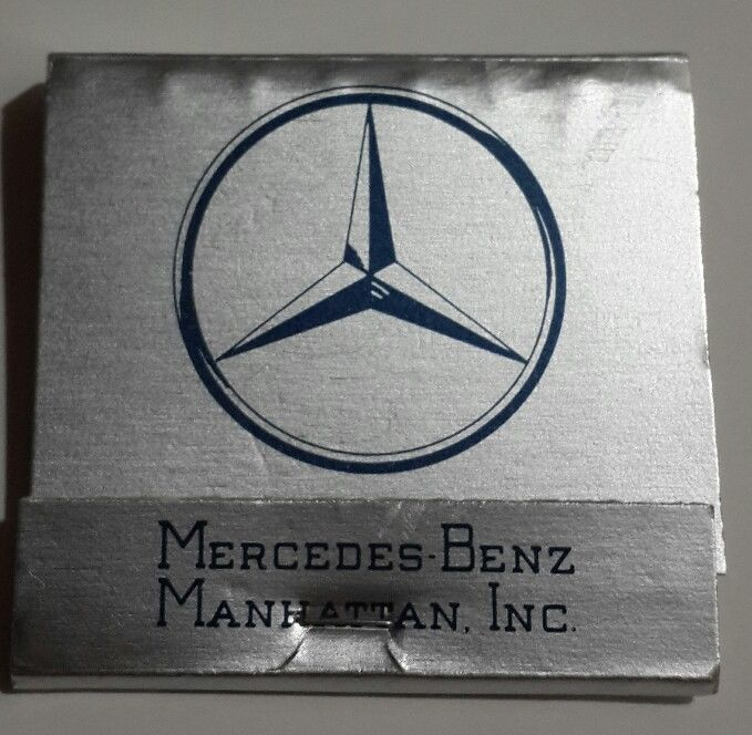 Mercedes Benz Matchbook Foil Manhattan NY Showroom Luxury