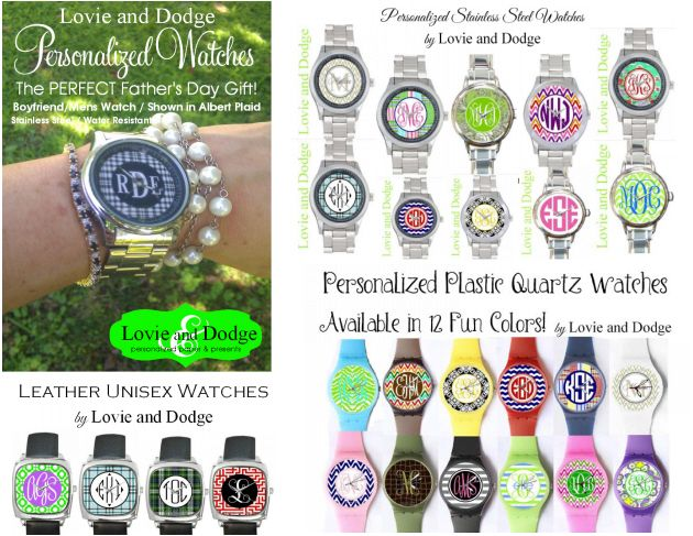 Personalized watches now available for order!