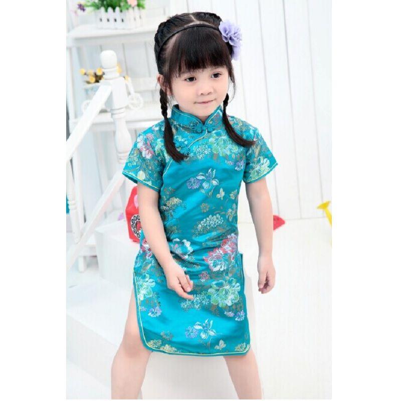 e142fe7aa7c8 Children   Baby Girls Cheongsams Qipao Chinese Dress Kids Cloths CNY ...