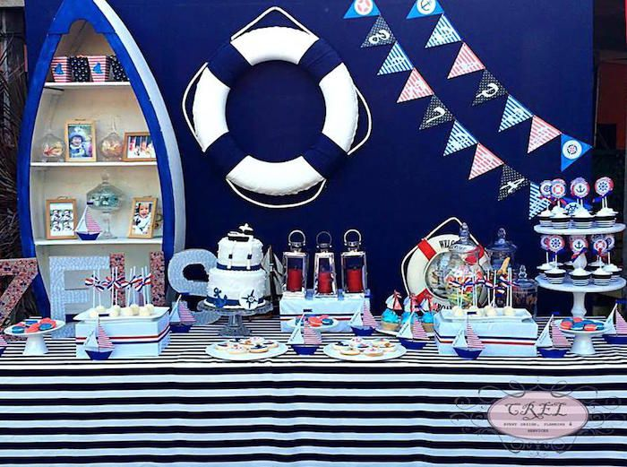 Karas Party Ideas Nautical Themed First Birthday
