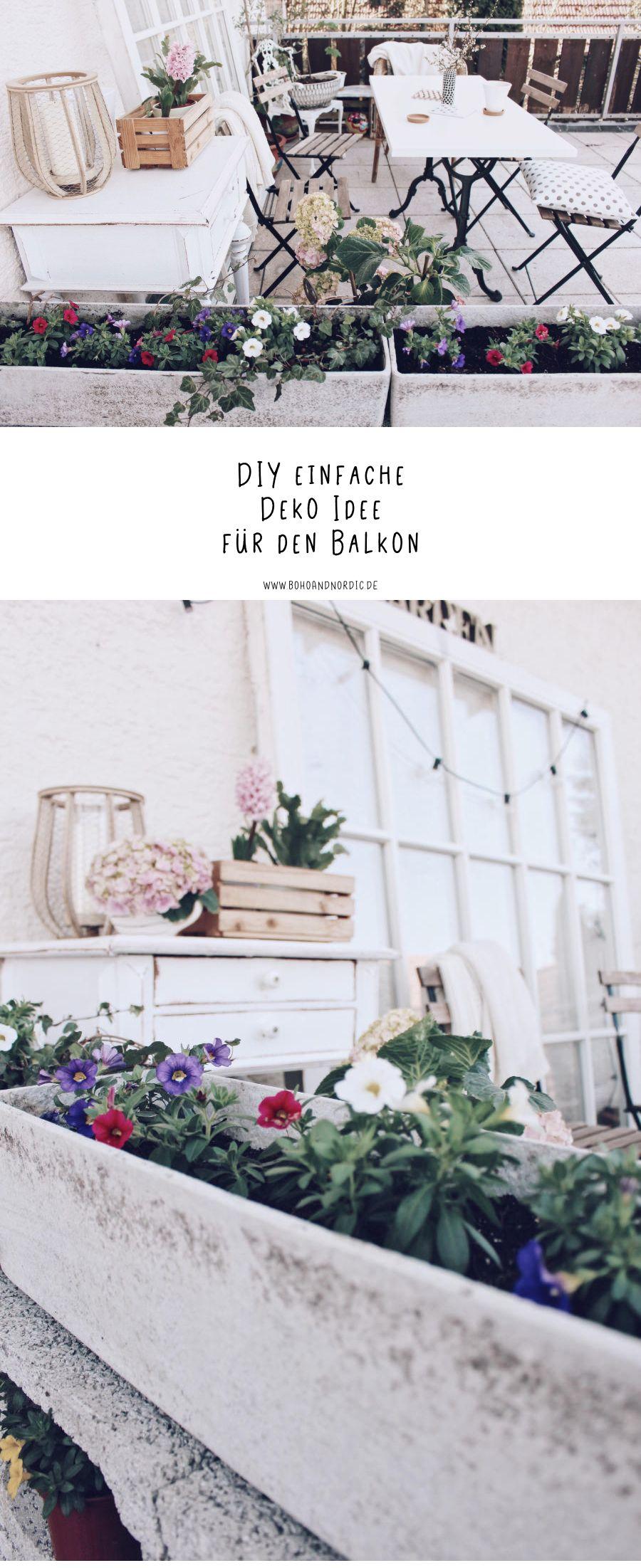Diy Einfache Deko Fur Den Balkon Blumendeko Leicht Gemacht