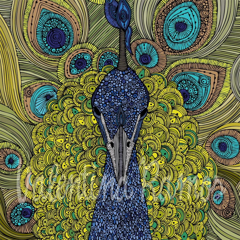 Mr. Pavo Real (the peacock) print. (Oh, Valentina, I'm going to be collecting some of your prints really soon!)