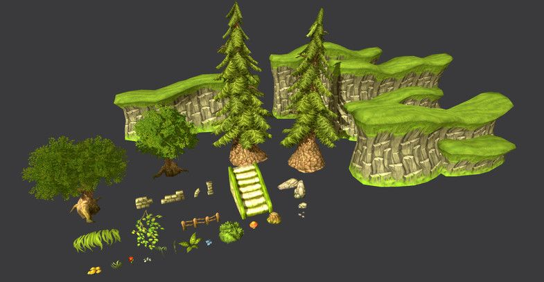 Update 1 4) Added trees that are compatible with unity terrain tools