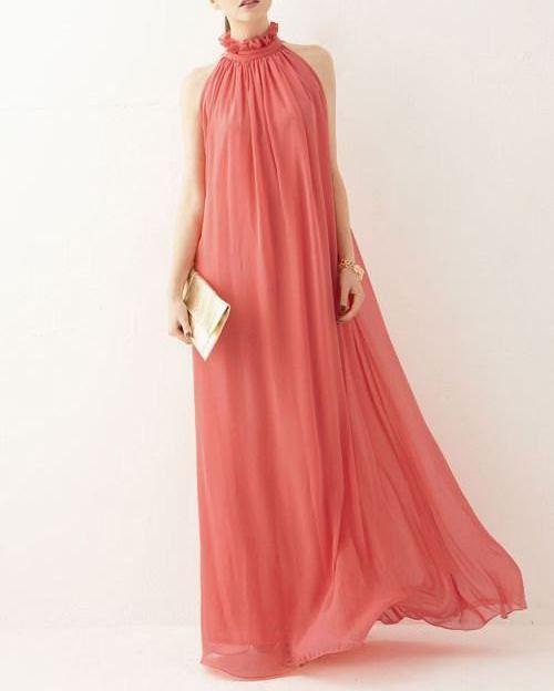 92a24638e61 Watermelon chiffon dress maxi dress long dress plus size dress sundress summer  dresses Evening dress tunic dress party dress chiffon skirt