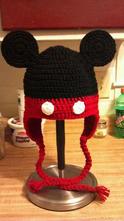 Mickey Mouse Teen-Adult $20 FB Page: Elder Crocheting | crochê ...