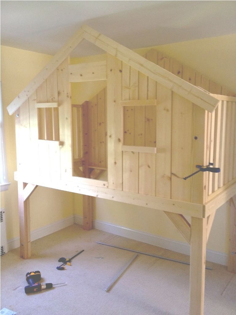 Treehouse Bunk Bed Plans Lovely Diy Treehouse Twin Loft Bed