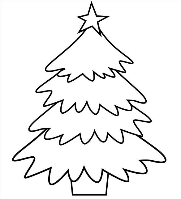 Awesome 23+ Christmas Tree Templates   Free Printable PSD, EPS, PNG, PDF Format Regard To Free Christmas Tree Templates