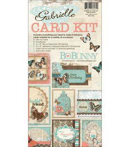 "Bo Bunny Gabrielle Card Kit 6""X12"" Pad: papercrafting coordinates: scrapbooking: Shop | Joann.com"