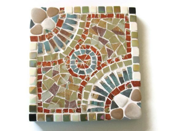 Reserved for Julia Trivet Mosaic Wall Art Hanging Brown ...