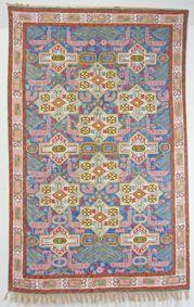 handbestickte Kettenstich Kaschmir Teppich No:2