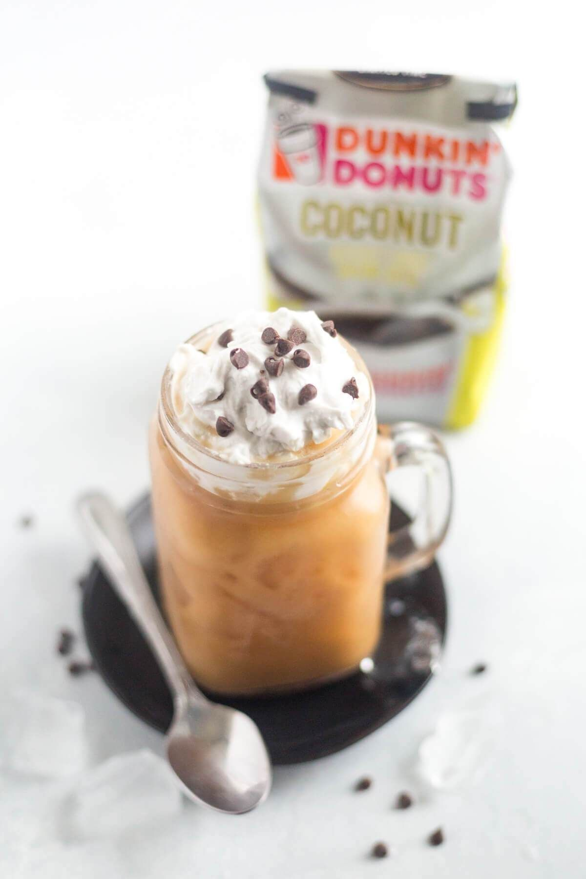 Mocha Coconut Iced Coffee is cool, refreshing and packed