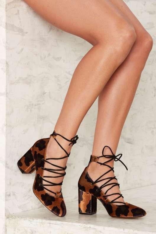 ffc479a18bfc Crosswalk Spot Me Leopard Velvet Heel. Crosswalk Spot Me Leopard Velvet Heel  Black Block Heel Shoes