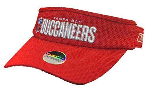 Tampa Bay Buccaneers Reebok Red White Flexfit NFL Sun Visor Cap ... e343ab0ff