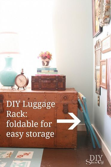 Getting Guest Ready With A Diy Luggage Rack Guest Room