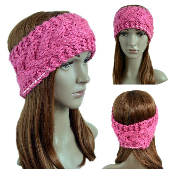 Super Bulky Stacked Cables Ear Warmer