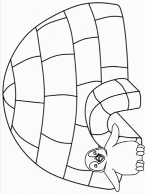 Igloo Coloring Page Coloring Pages Winter Coloring Pages Free