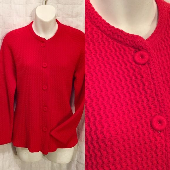 Vintage red cardigan sweater 70s | Red cardigan sweater, 1970s and ...