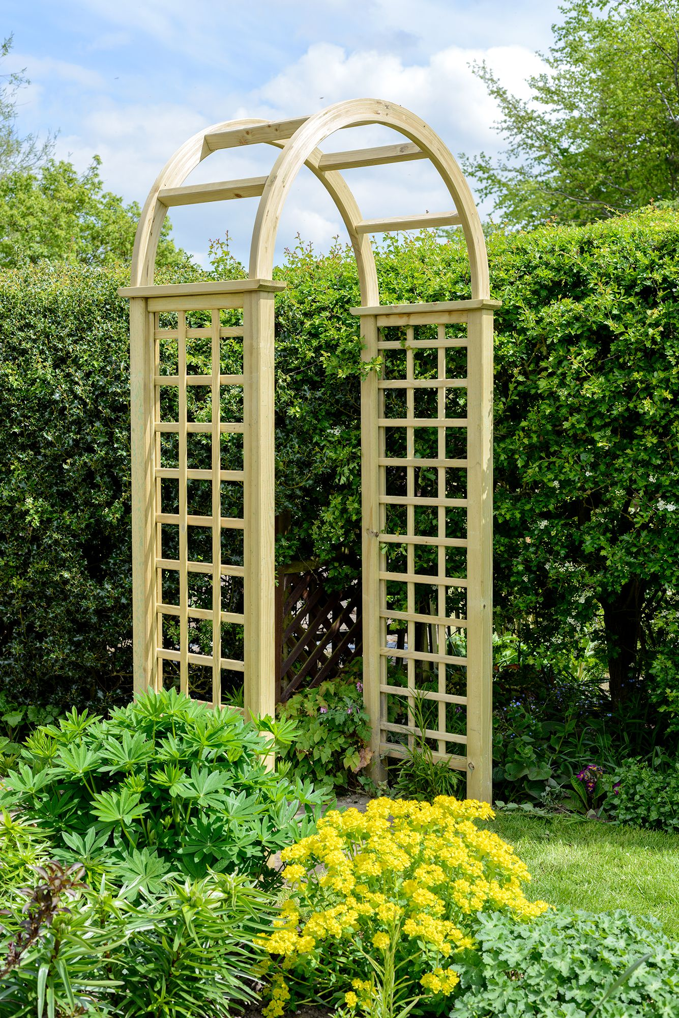 The Elite Granville Arch. Great for any style of garden!