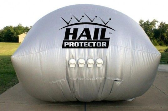 Hail Protection Car Cover >> The Hail Protector An External Airbag That Shields Your Car