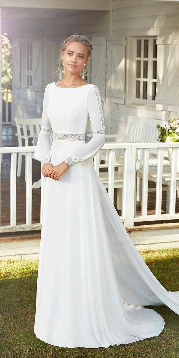 30 Cute Modest Wedding Dresses To Inspire | Wedding Forward