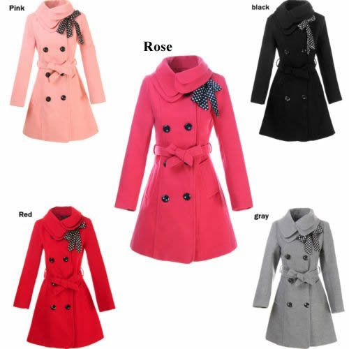 Free shipping wholesale fashion Women wool coat Slim trench coat ...
