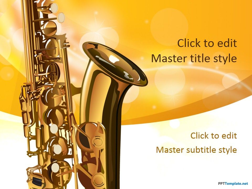 Free saxophone ppt template music ppt templates pinterest ppt free saxophone ppt template toneelgroepblik Image collections
