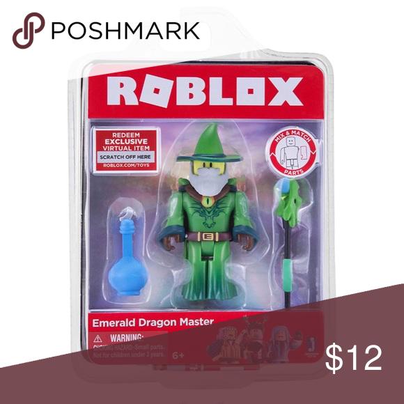 Roblox New Emerald Dragon Master Figure Emerald Dragon Perfect Christmas Gifts Roblox