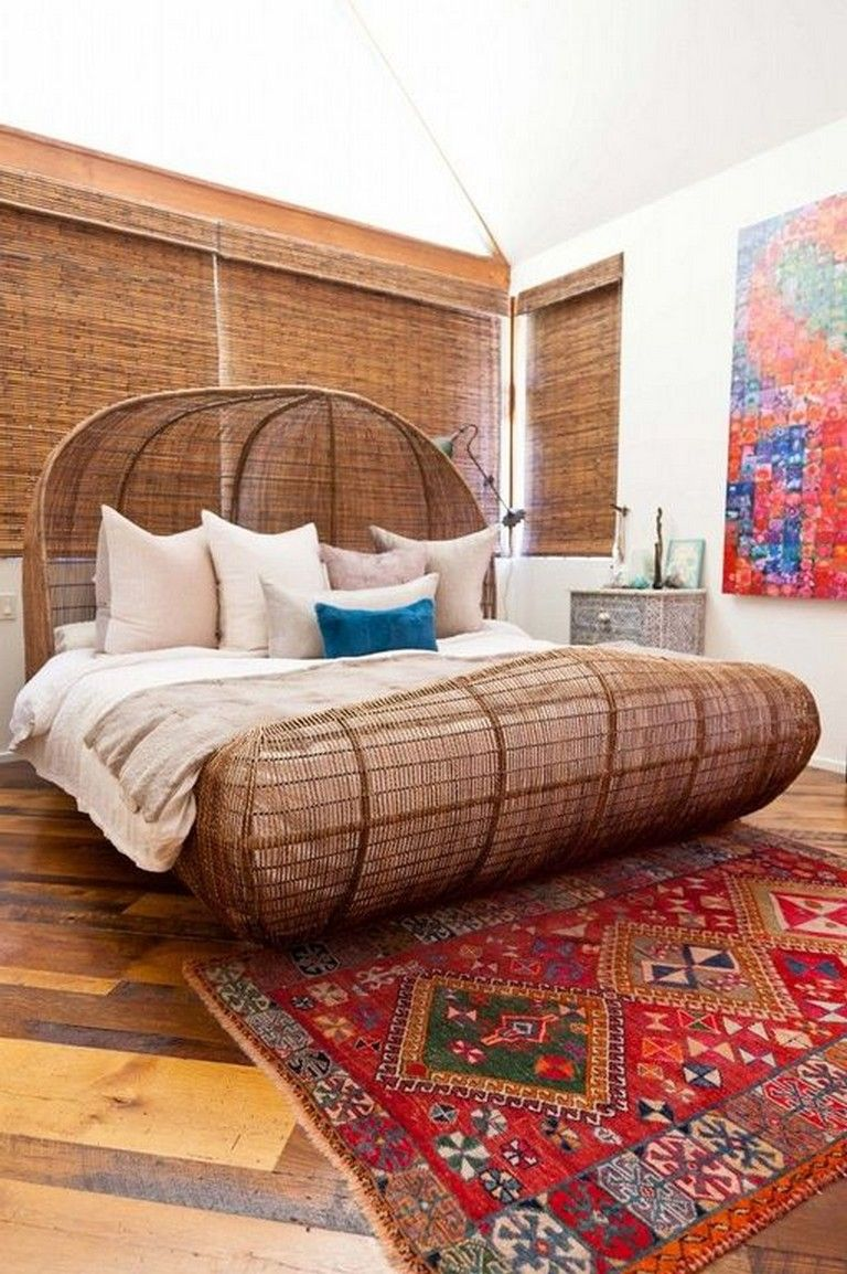 34+ Intelgent Rattan Bed Frame Designs You Will Love (With ... on Modern Boho Bed Frame  id=19096