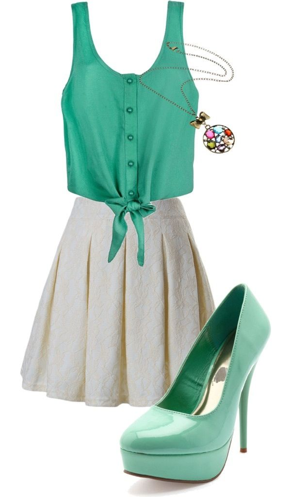 Cute skater skirt outfit | Cute Office OutFit | Pinterest | Skater skirt outfits Skater skirt ...