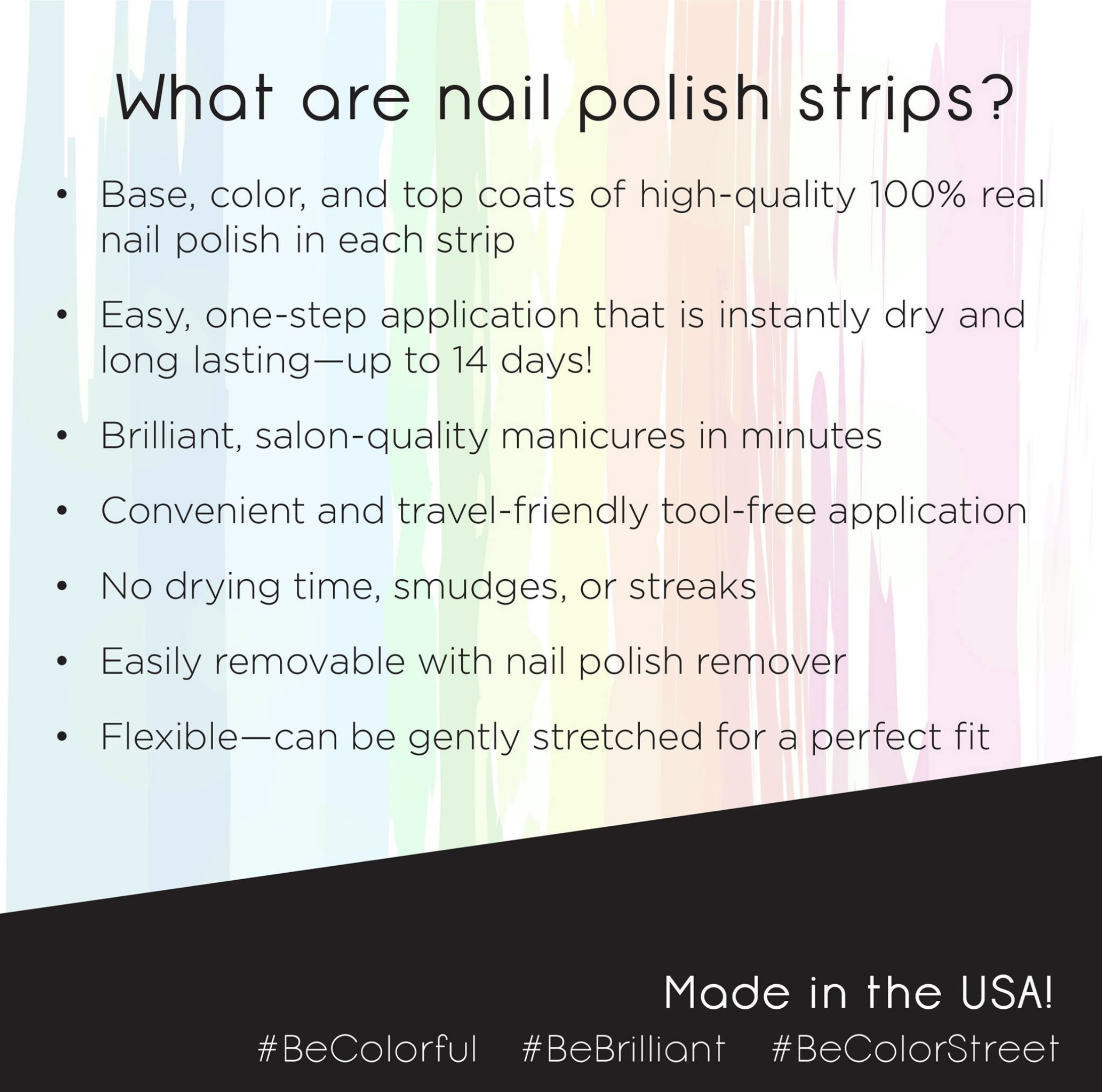 What is Color Street? Color Street Nail Strips are 100% nail polish ...
