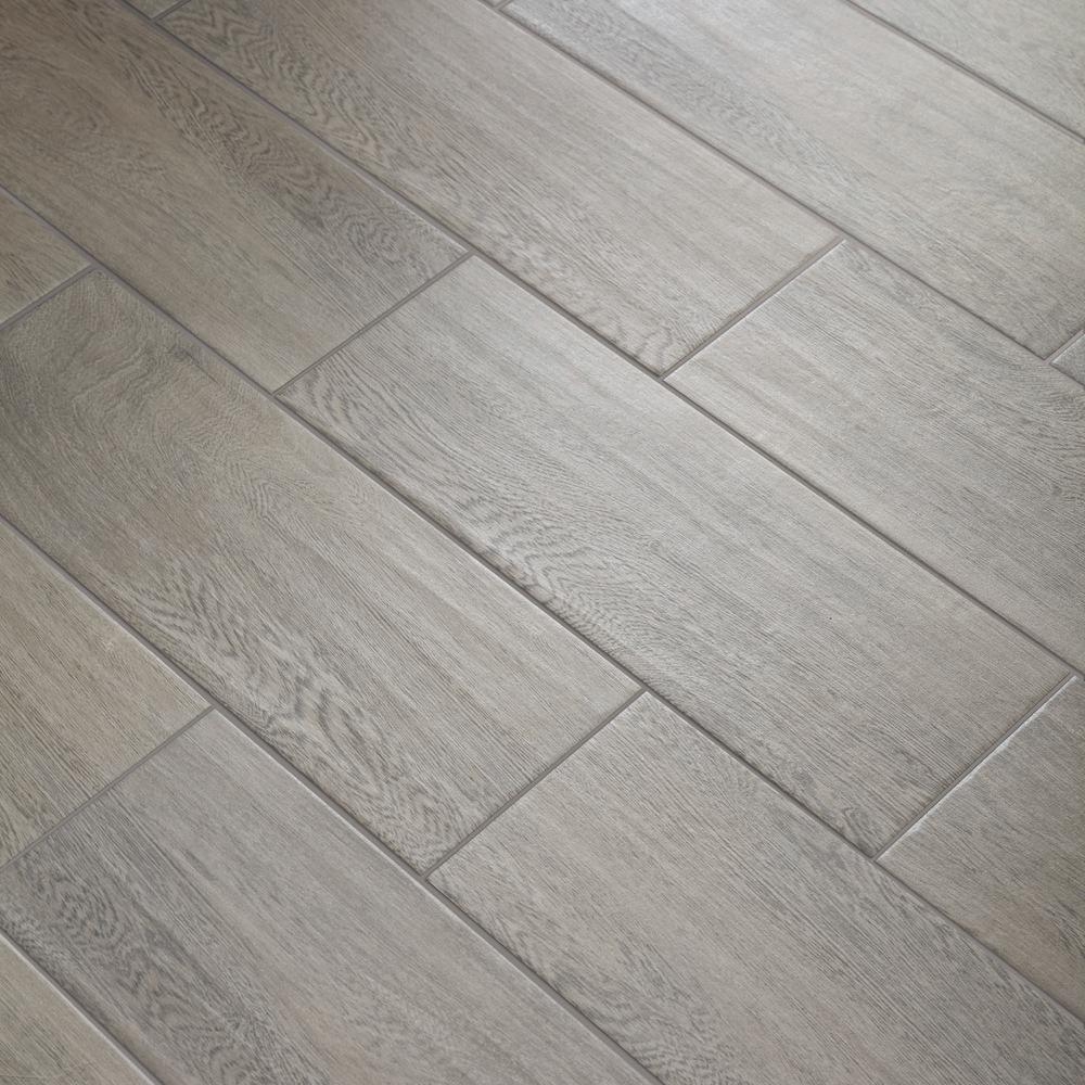 TrafficMASTER Glenwood Fog 7 in. x 20 in. Ceramic Floor ...