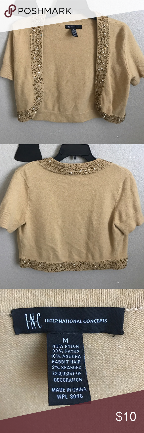 INC International Concepts cardigan Butter color INC International Concepts cardigan. Good condition no rips or stains. INC International Concepts Sweaters Cardigans
